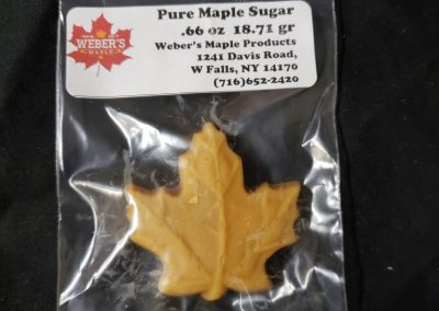 Formed Maple Sugar 1 Maple Leaf