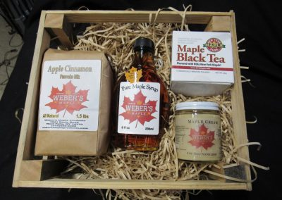 Rustic crate Maple Gift Box